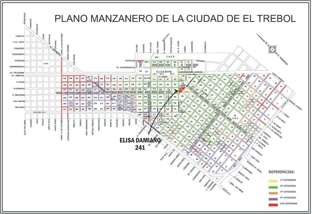 Elisa Damiano 241, El Trébol